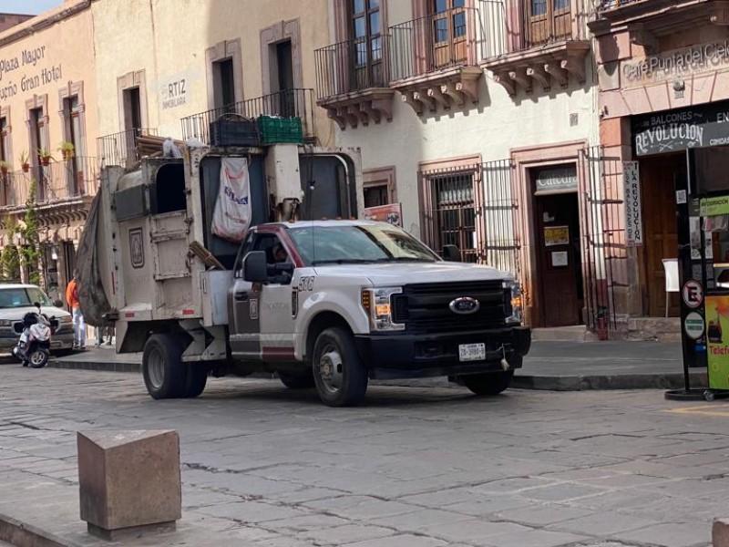 Roban unidad de limpia, perteneciente al municipio de Zacatecas