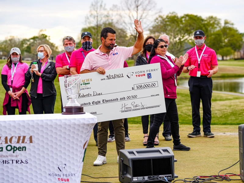 Roberto Díaz, golfista veracruzano, gana el Luisiana Open