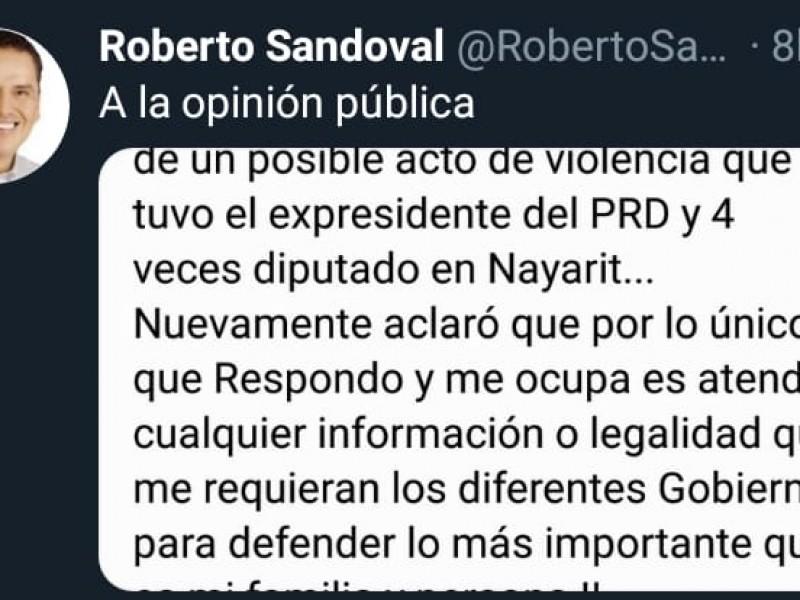 Roberto Sandoval respondió a señalamientos por atentado