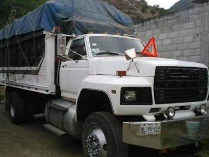 Robo de camión en Ocosingo frustrado