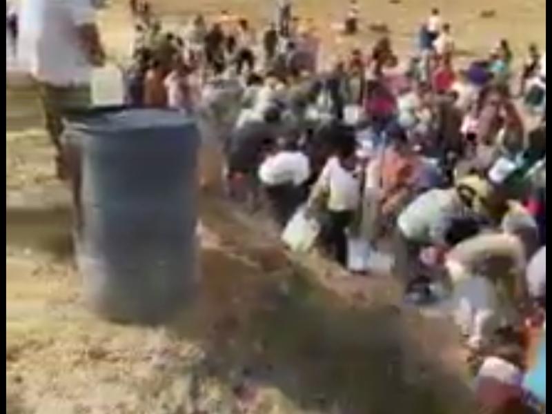 Rompen ducto e inicia rapiña en Acambay