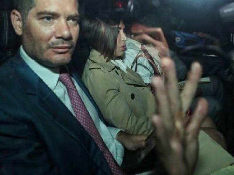 Rosario Robles sale de audiencia en el Reclusorio