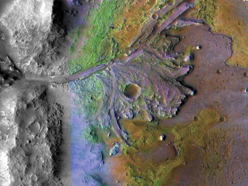 Róver Perseverance revela como el agua pudo formar paisaje marciano
