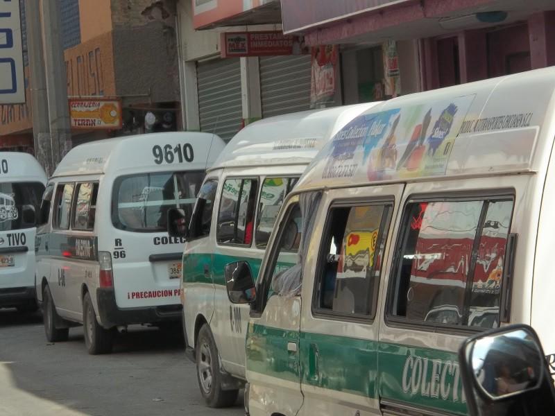 Rutas de transporte recortan horarios