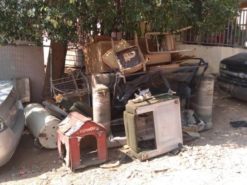 Sacan 70 toneladas de basura en colonias Bellotas y Encinos