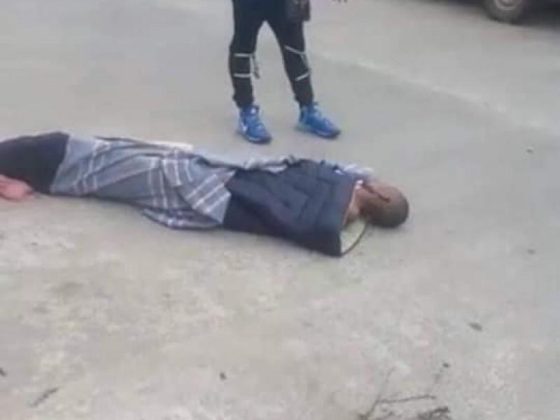 Sacan a la calle cadáver de migrante Haitiano