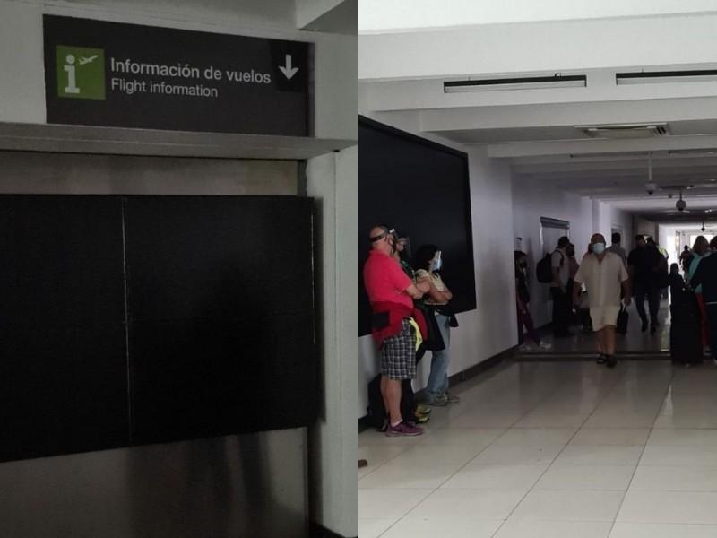 Salas de abordaje en Terminal 1 del AICM sin luz