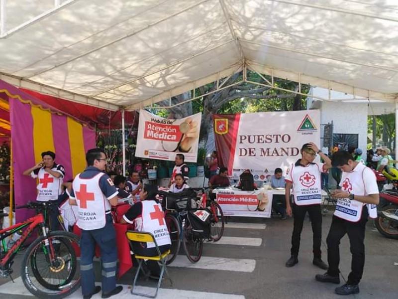 Saldo blanco en Día de Muertos: Cruz Roja