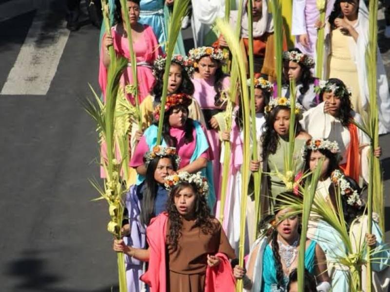 Saldo blanco en Domingo de Ramos en Iztapalapa