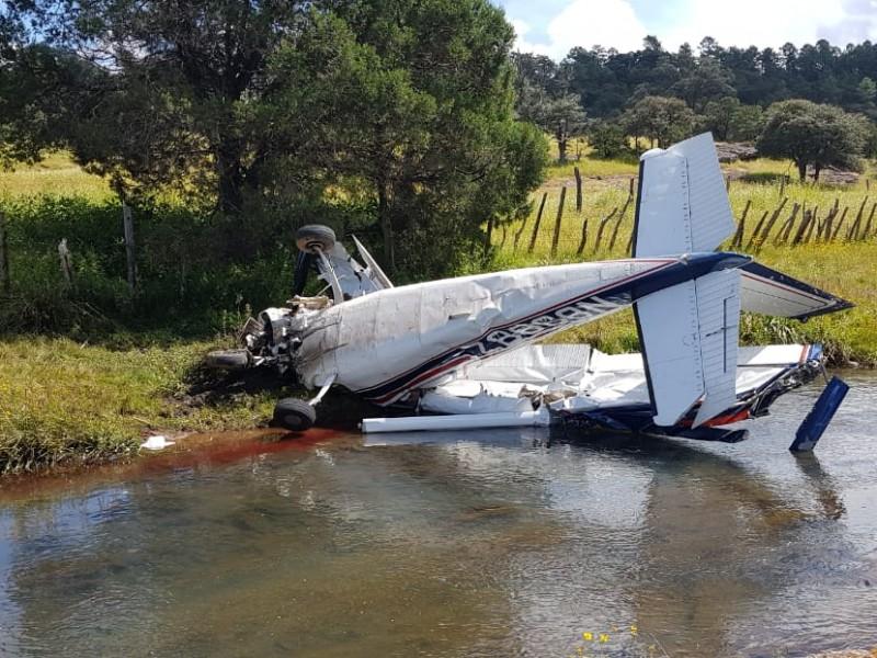Saldo de tres fallecidos al caer avioneta
