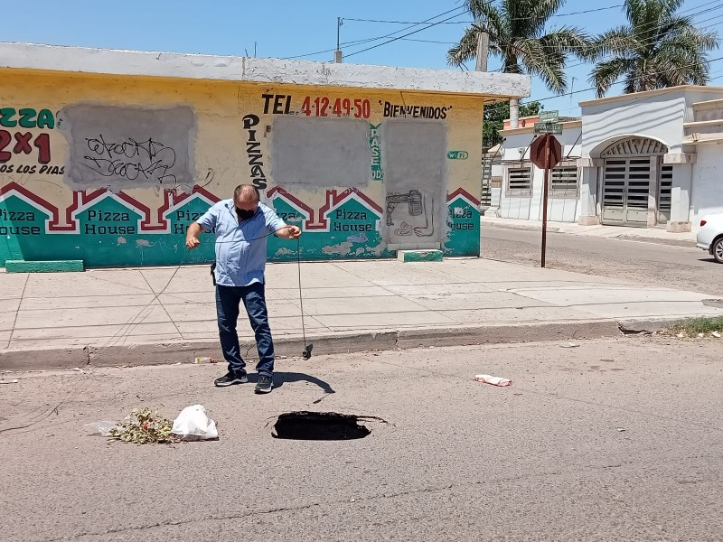 Sale otro socavón en Ciudad Obregón