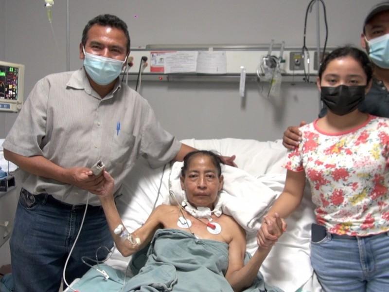 Salva vida mujer luego de neumonectomía en el ISSTECH