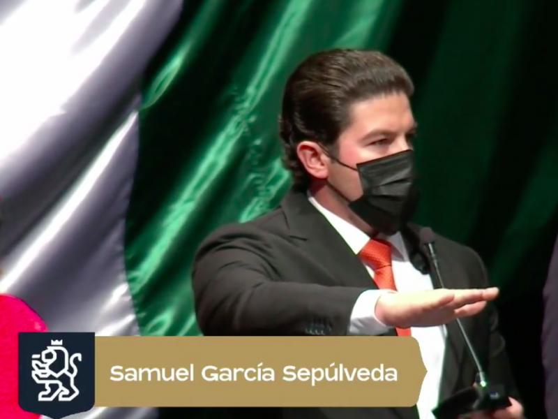 Samuel García rinde protesta como Gobernador de Nuevo León
