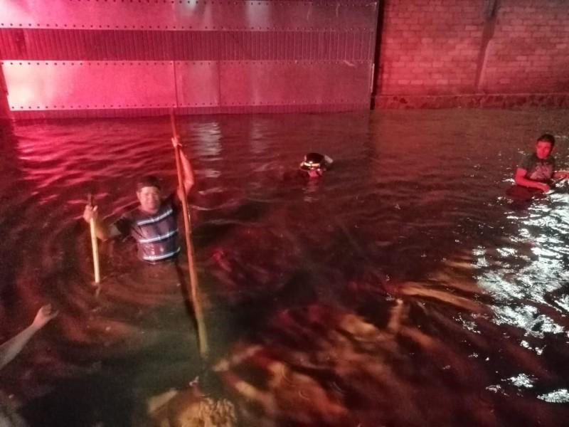 San Cayetano sufrió primera inundación