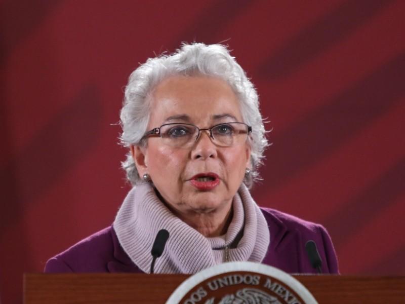 Sánchez Cordero acusa misoginia dentro del gabinete de seguridad