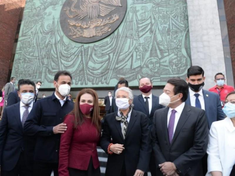 Sánchez Cordero comparece ante comisiones en la Cámara de Diputados