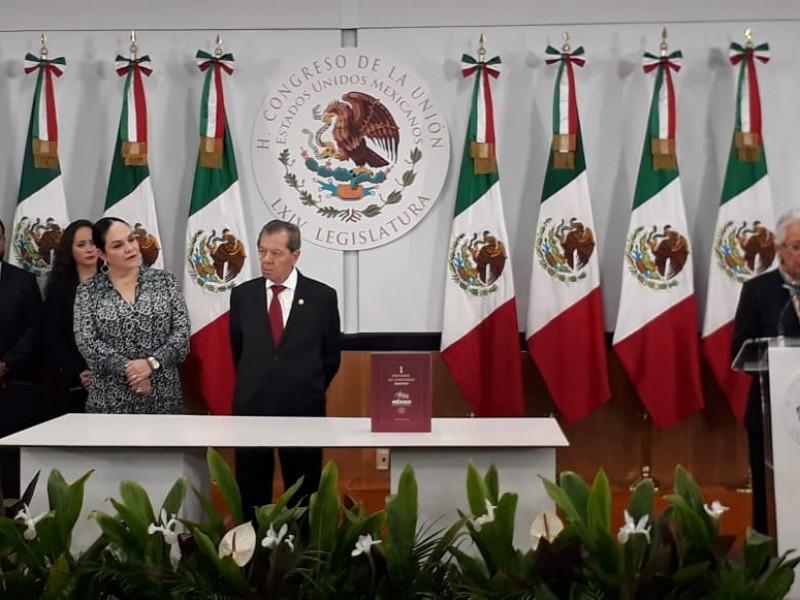 Sánchez Cordero entrega el Primer Informe de Gobierno