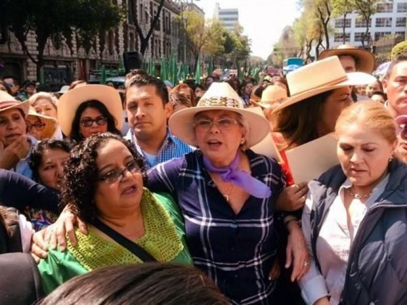 Sánchez Cordero marcha en Día de la Mujer