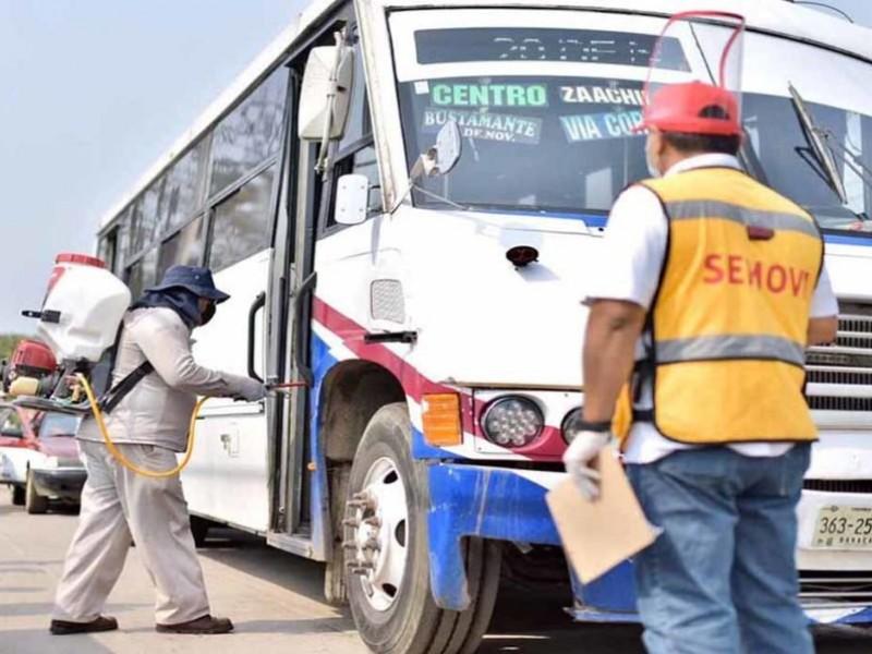 Sancionan a 500 unidades de transporte público; incumplen medidas sanitarias