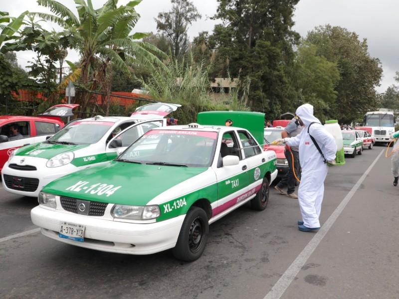 Sanitizan miles de unidades de transporte público, en Veracruz