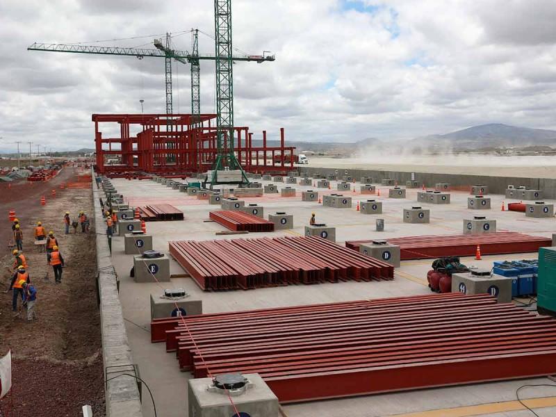 Santa Lucía presenta avance del 20% pese a Covid-19