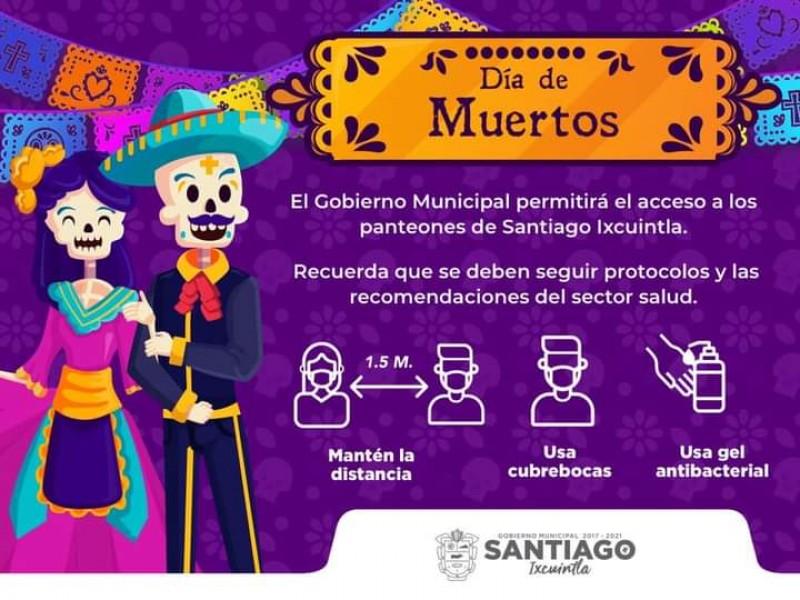 Santiago Ixcuintla autorizará acceso a panteones
