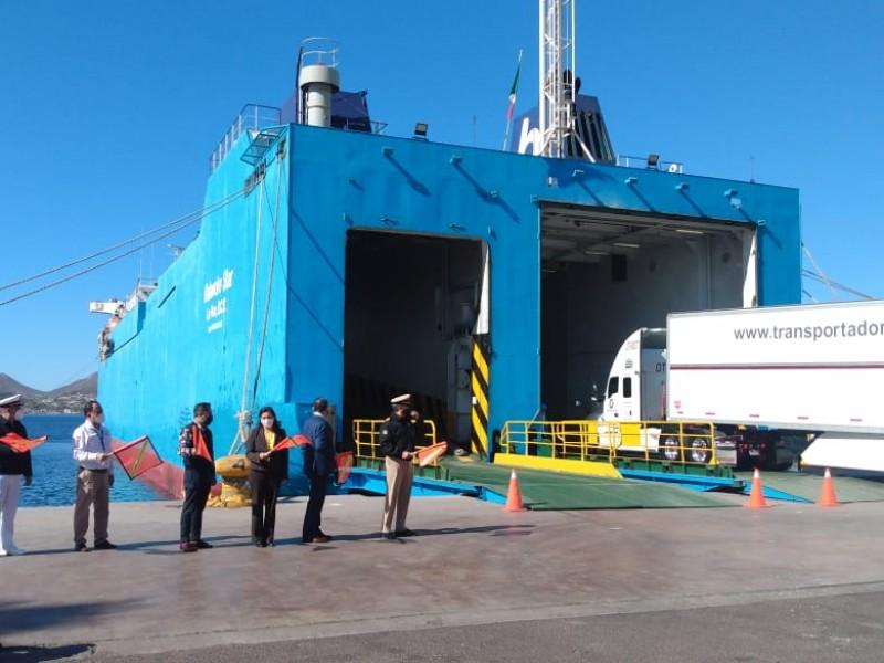 Se activa ruta Guaymas-Santa Rosalía para tripulantes y carga rodada