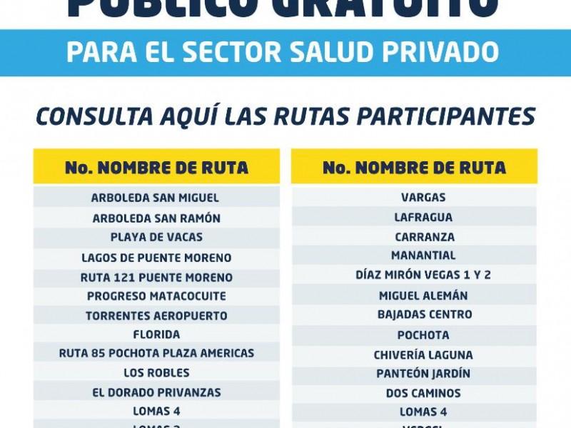 Se amplía a sector privado transporte gratuito en Veracruz