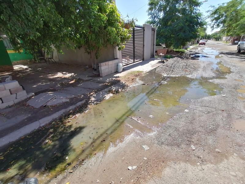 Se convierte en Río de aguas negras calle de Villabonita