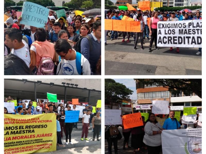 Se desatan protestas en materia educativa en Chiapas