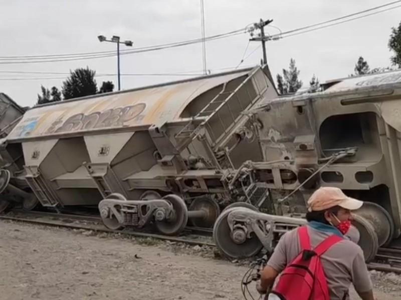 Se descarrila tren en Edomex