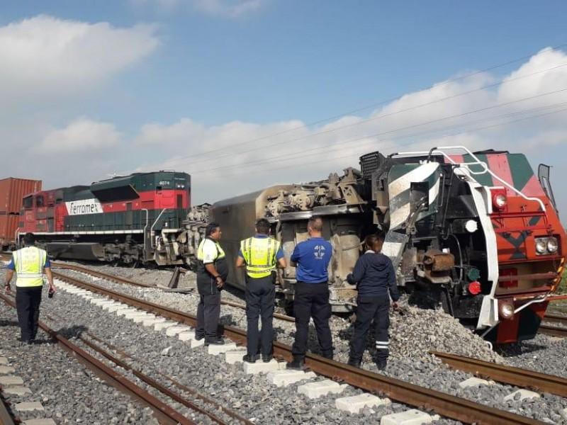 Se descarrila tren en Santa María Magdalena