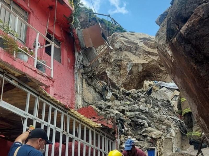 Tragedia en el Cerro del Chiquihuite: derrumbe sepulta varias casas
