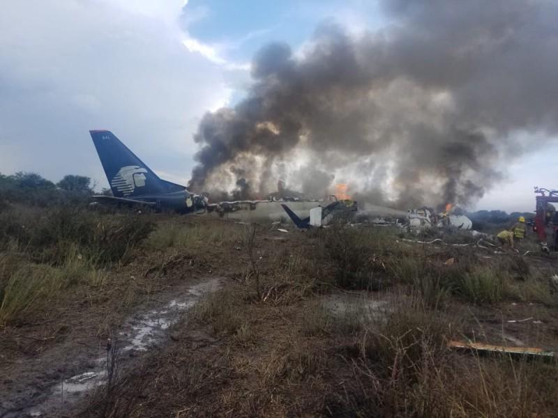 📹Se desploma avión de Aeroméxico en Durango