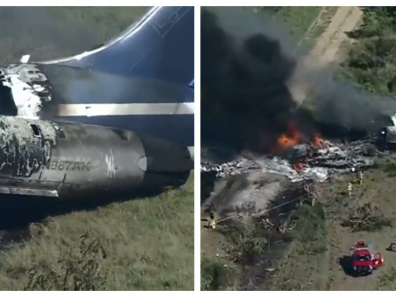 Se desploma avión en Texas, los 21 pasajeros sobreviven