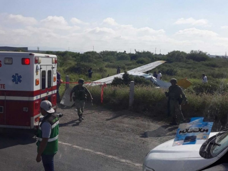 Se desploma avioneta en Carretera Laredo, Nuevo León