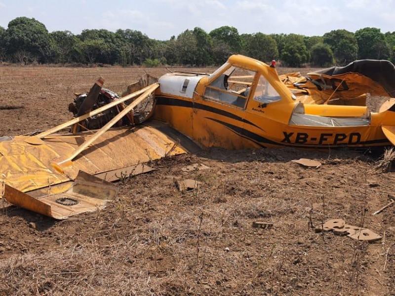 Se desploma avioneta fumigadora en Tapachula
