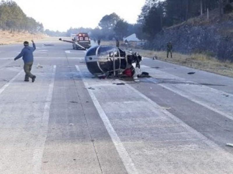 Se desploma helicóptero de SEDENA en Chihuahua