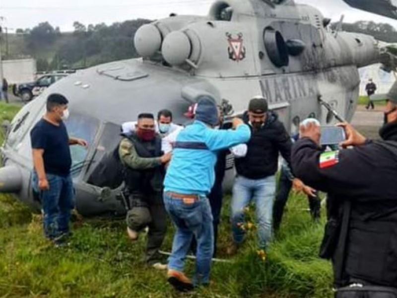 Se desploma helicóptero donde viajaba Secretario de Gobierno