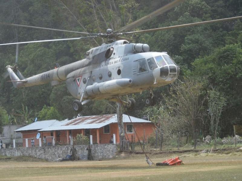 Se desploma helicóptero en la Sierra Gorda