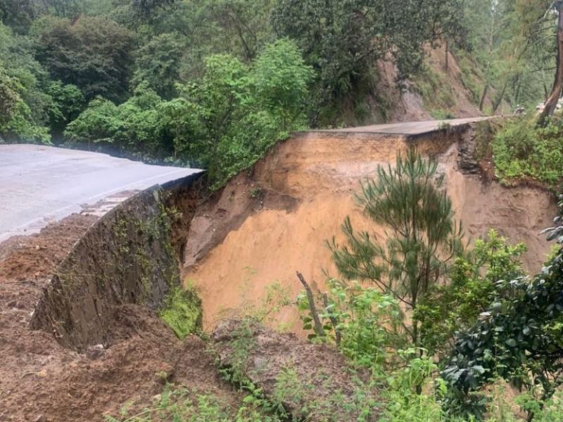 Se desploma puente en carretera El Grullo-Cd. Guzmán