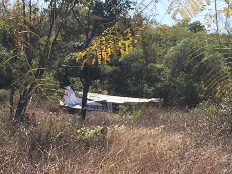 Se desplomó avioneta en Comitán