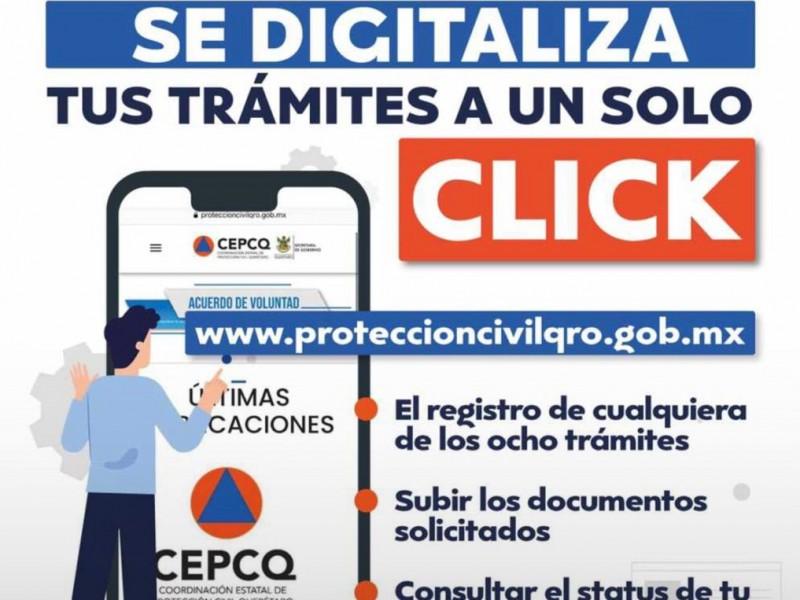 Se digitalizan tramites de Proteccion Civil