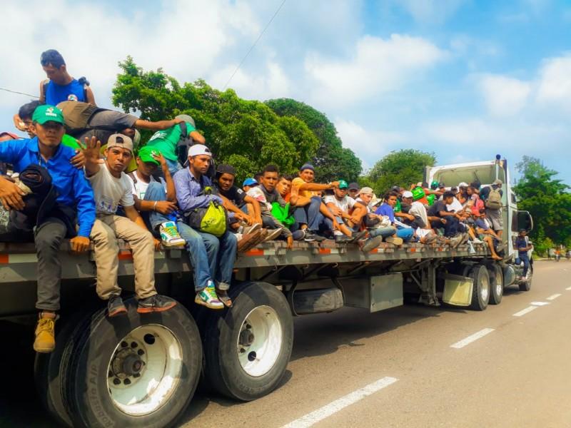 Se dividen migrantes entre Veracruz y Puebla