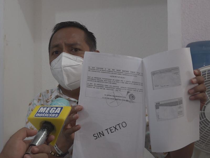 Se duplica solicitud de actas de defunciones en Tehuantepec
