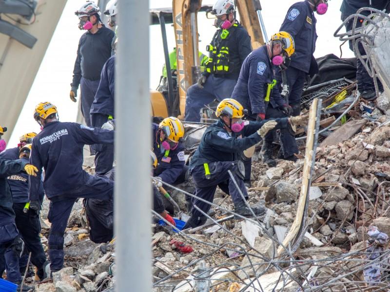 Se eleva la cifra de víctimas del desplome en Miami