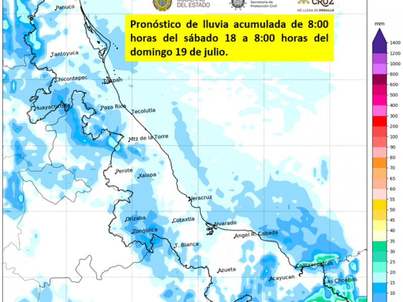 Se esperan lluvias aisladas en Veracruz