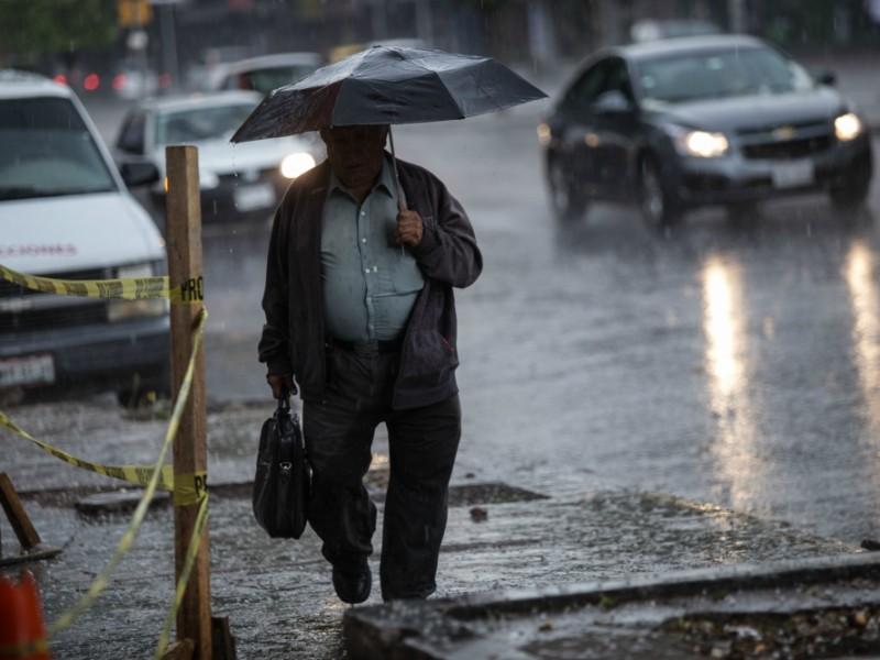 Se esperan lluvias con granizo en la CDMX