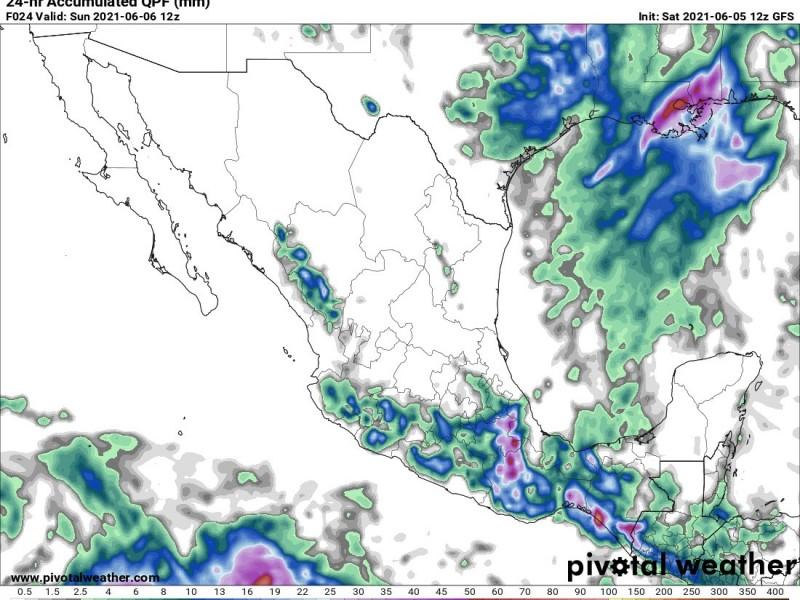 Se esperan lluvias en gran parte del país