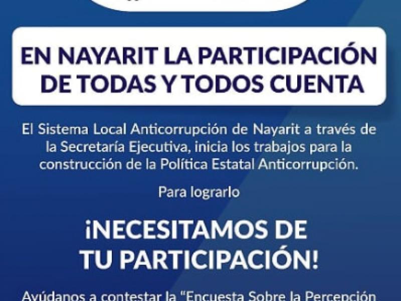 Se esperan mil personas encuestadas por el Sistema Local Anticorrupción
